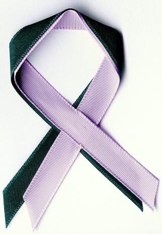 green and lilac ribbons